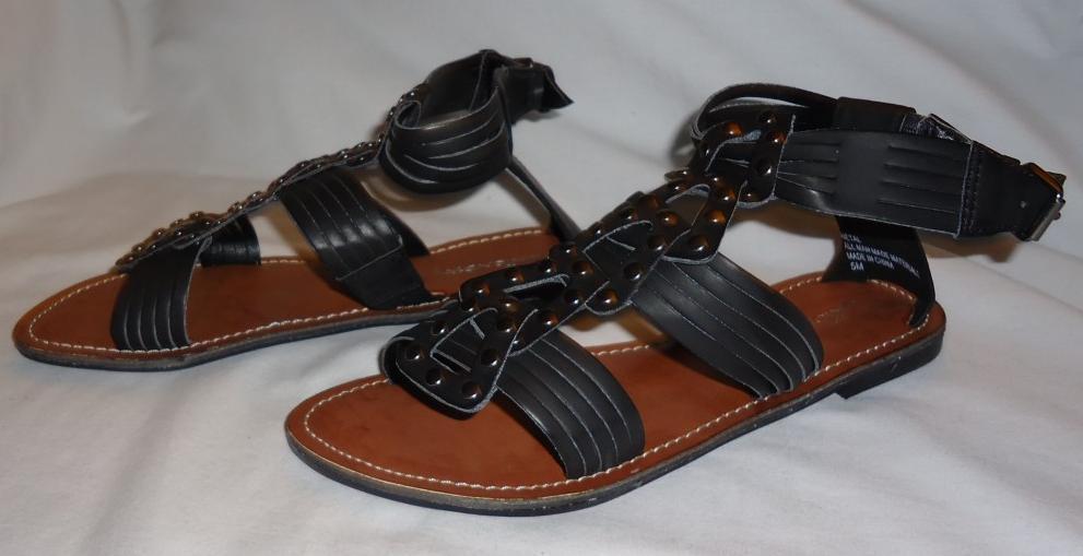 NEW Black $40 Union Bay Black NEW Metal Sandal Sz. 5m 4487e0