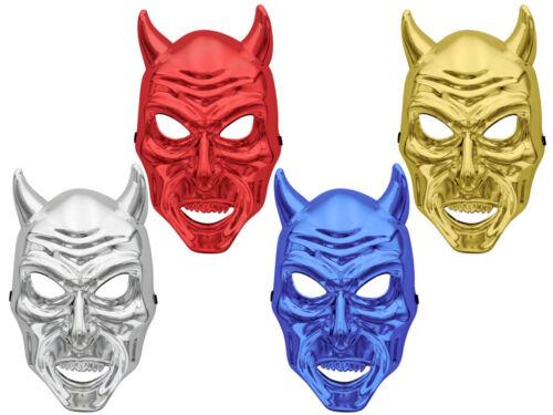 Halloween Maskierung Vollmaske verschiedene Farben  Totenkopf Teufelshörner