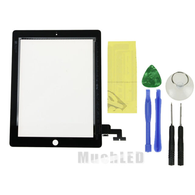 New Touch LCD Screen Glass Digitizer Replacement For iPad 2 Black + Repair Tools