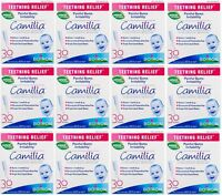 12 Pack Boiron Camilia Teething Relief, 30 Count Ea (0.034 Fl Oz Each) on Sale