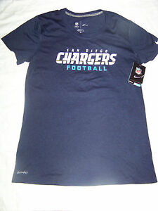 15f83070 Details about Nike DriFit Women's San Diego Chargers Shirt NWT