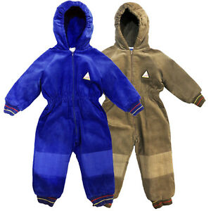 948aaf55b8ea Insulated Padded Kids Snow Suit Winter Warm Girls Boys Baby All-In ...
