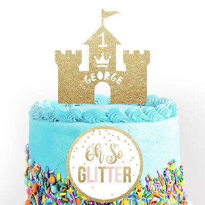 Excellent Boys Castle Cake Topper Prince Custom Birthday Custom Personalised Funny Birthday Cards Online Unhofree Goldxyz