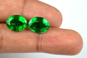 Muzo-Colombian-Emerald-Collection-10-12-Ct-Oval-Pair-100-Natural-AGSL-Certified