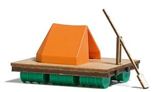 Busch-1564-Raft-With-Tent-Kit-H0