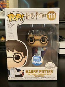 HARRY POTTER FUNKO POP! HARRY IN INVISIBILITY CLOAK PC EXC #111 *UK STOCK*