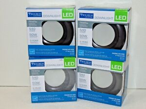 4-Pack-Lot-Progress-Lighting-4-in-Antique-Bronze-Integrated-LED-Recessed-Trim