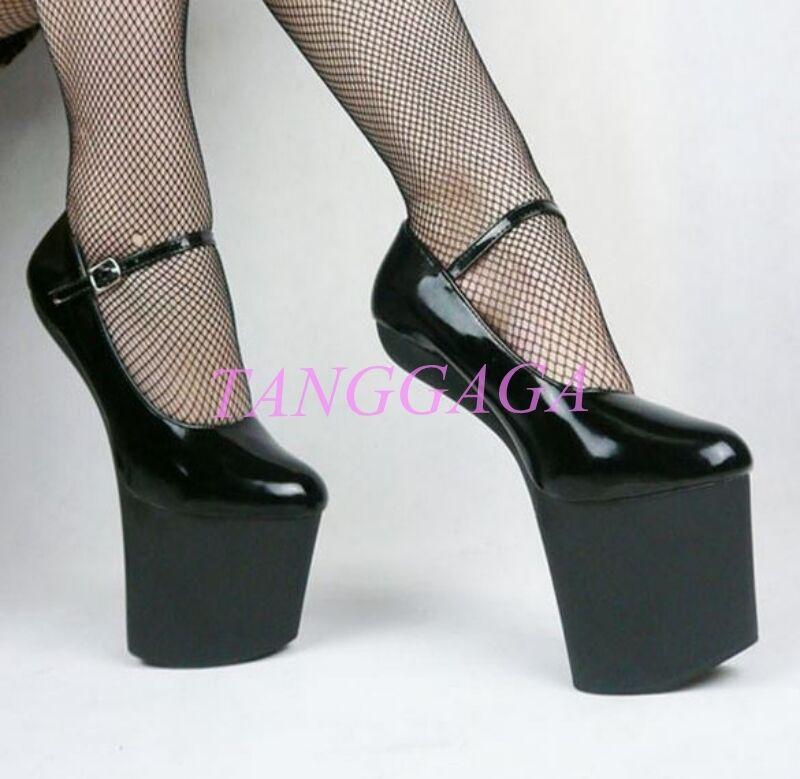 Womens Sexy Extreme Charming Heeless Heeless Heeless Hoof Sole Dance Pumps Platform Party shoes 65d9d0