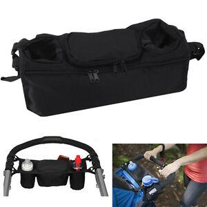 Baby-Pram-Organizer-Bottle-Cup-Holder-Stroller-Caddy-Storage-Universal-Buggy