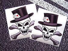 Vampiro Calavera con Sombrero Calavera jugando a las cartas Pegatinas 4 Ace Tatuaje