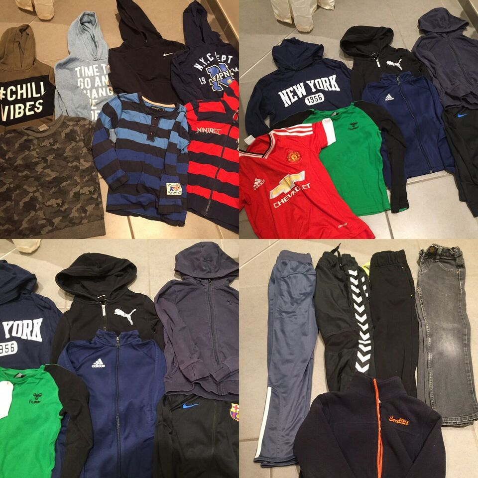 Blandet tøj, Tøjpakke 18 stykker tøj, Adidas