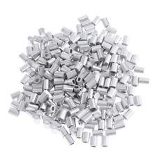 100pcs Double Barrel Crimps Angelhülsen für Rig Making 1mm //1.2mm Bore