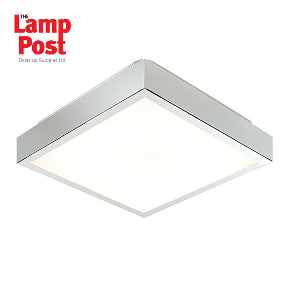 buy popular 94004 5a2f2 Saxby CUBITA 28w Square 290mm Chrome Plated HF Ip44 Flush Bathroom Ceiling  Light