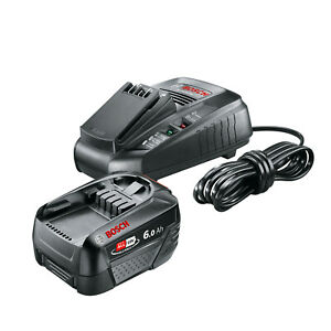 Bosch Lithium-Ion Battery and Charger Starter Set (1 Battery, 18 V, 6.0 Ah, DIY)
