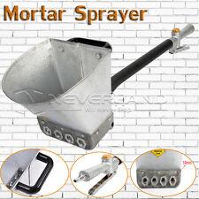 4 Jet Cement Mortar Sprayer Hopper Stucco Spray Gun Wall Painting Concrete Tool