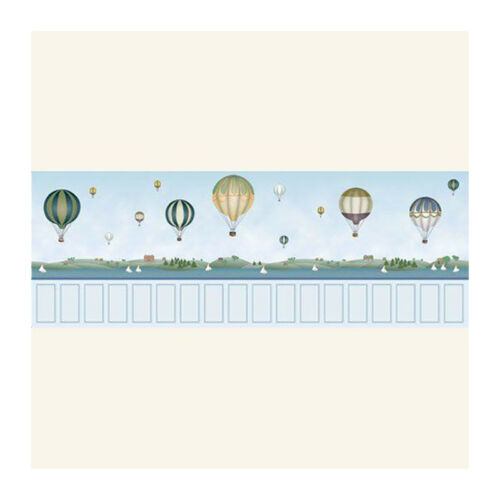 Dolls House 7027 Wallpaper Balloon Blue Paper 60x43 cm 1:12 for Dollhouse New! #