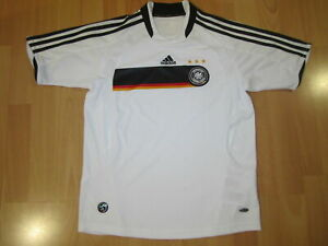 Details zu Adidas Deutschland Trikot Jersey DFB Shirt 08 Weiß Maglia Camiseta Maillot D 152