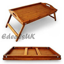 AMT HOMECARE LARGE BAMBOO LAP TRAY WITH FOLDING LEGS - 50 x 30 cm