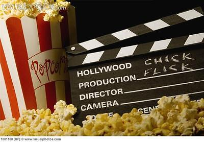 ACTON! HOLLYWOOD Movie Oscar PARTY PROP DECORATION Wooden DIRECTOR'S CLAPBOARD