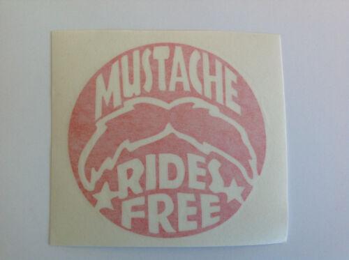 Mustache Rides Free Die Cut Decal Window Sticker Vehicle High Quality 2275