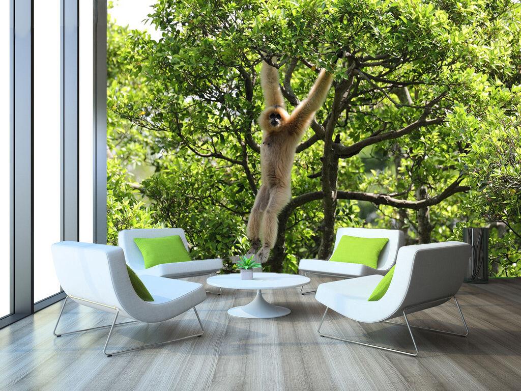 3D braun Orangutan Forest 0432 Wall Paper Wall Print Decal Wall AJ WALLPAPER CA