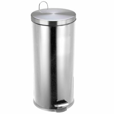 30 Litre Stainless Steel Silver Pedal Bin Kitchen Rubbish Waste By Home Discount