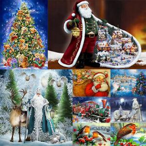 Taladro-Completo-De-Navidad-Pintura-de-diamantes-5D-kit-punto-Arts-Festival-Navidad-Muneco-de-nieve