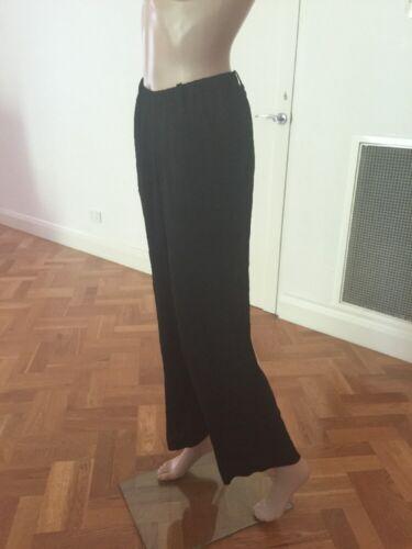 Pantalone medio senza etichette nuovo Pantalone fit donna taglia Moriyama Shu corto loose fv8RY