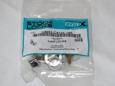 Access Control Equipment Stock Locks Compx National C8053-c413a-14a Cam Lock Bright Nickel Disc Tumbler Professional Design