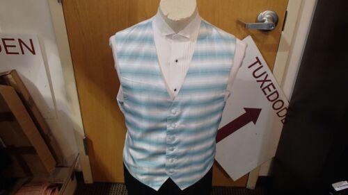 "Men/'s Formal Vest Turquoise /""Vision/"" by Perry Ellis"