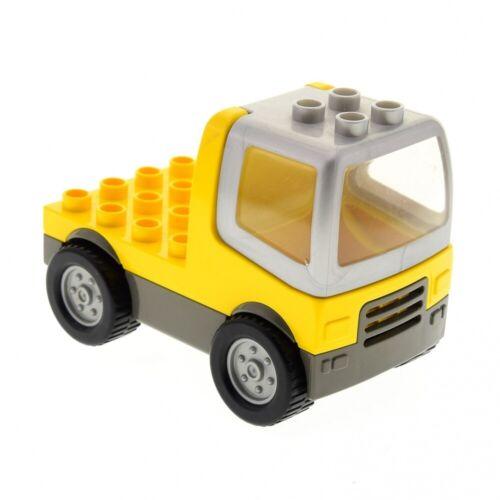 1x Lego Duplo LKW gelb alt-dunkel grau Laster Auto Baufahrzeug 9132 duptruck02