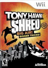 SEALED NEW Wii Tony Hawk SHRED Video Game skateboard skate sports nintendo NEW