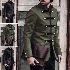 Men-039-s-Medieval-Jacket-Pirate-Costume-Adult-Steampunk-Halloween-Coat-Tops-Jackets