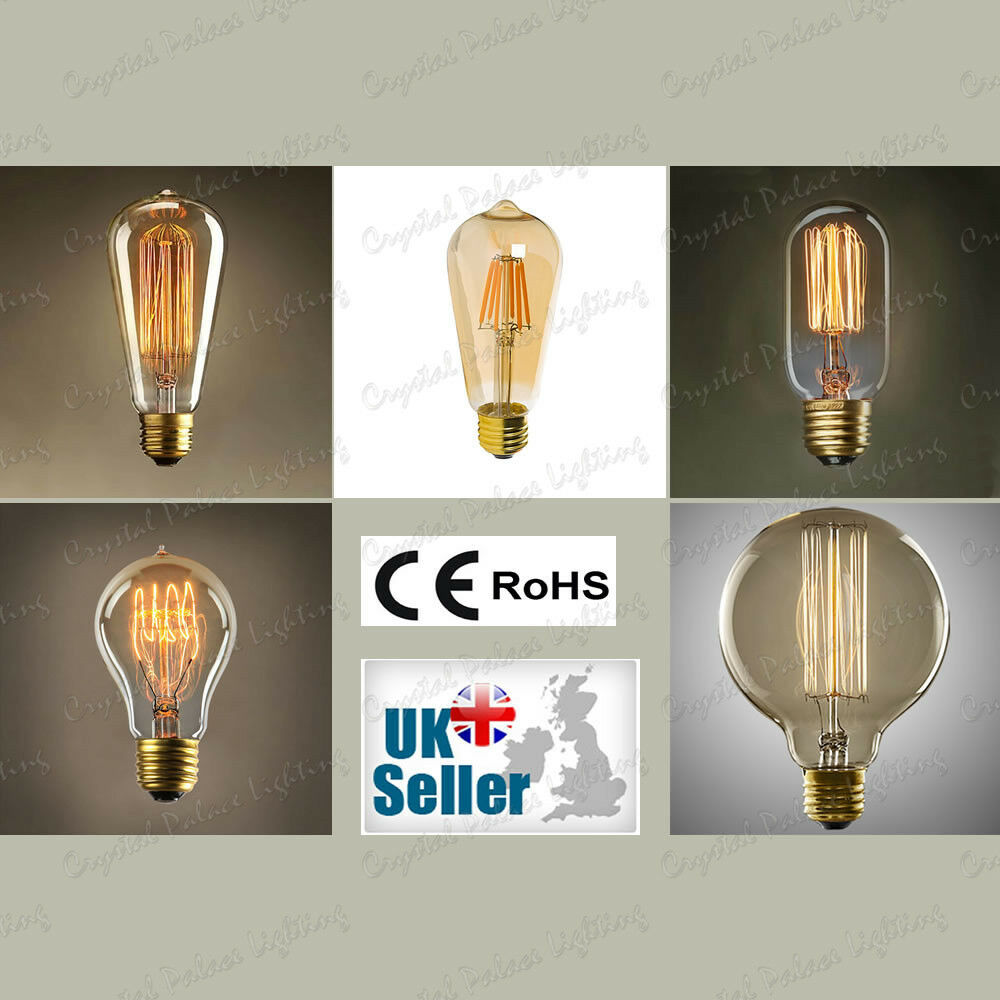Vintage Industrial Filament Antique Style Edison Light Bulbs  E27-40 60W LED4 6W