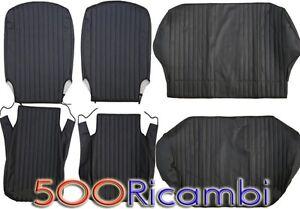 FIAT-500-F-L-R-FODERE-SEDILE-COMPLETO-TAPPEZZERIA-SELLERIA-NERO-CANALETTI-COSTA