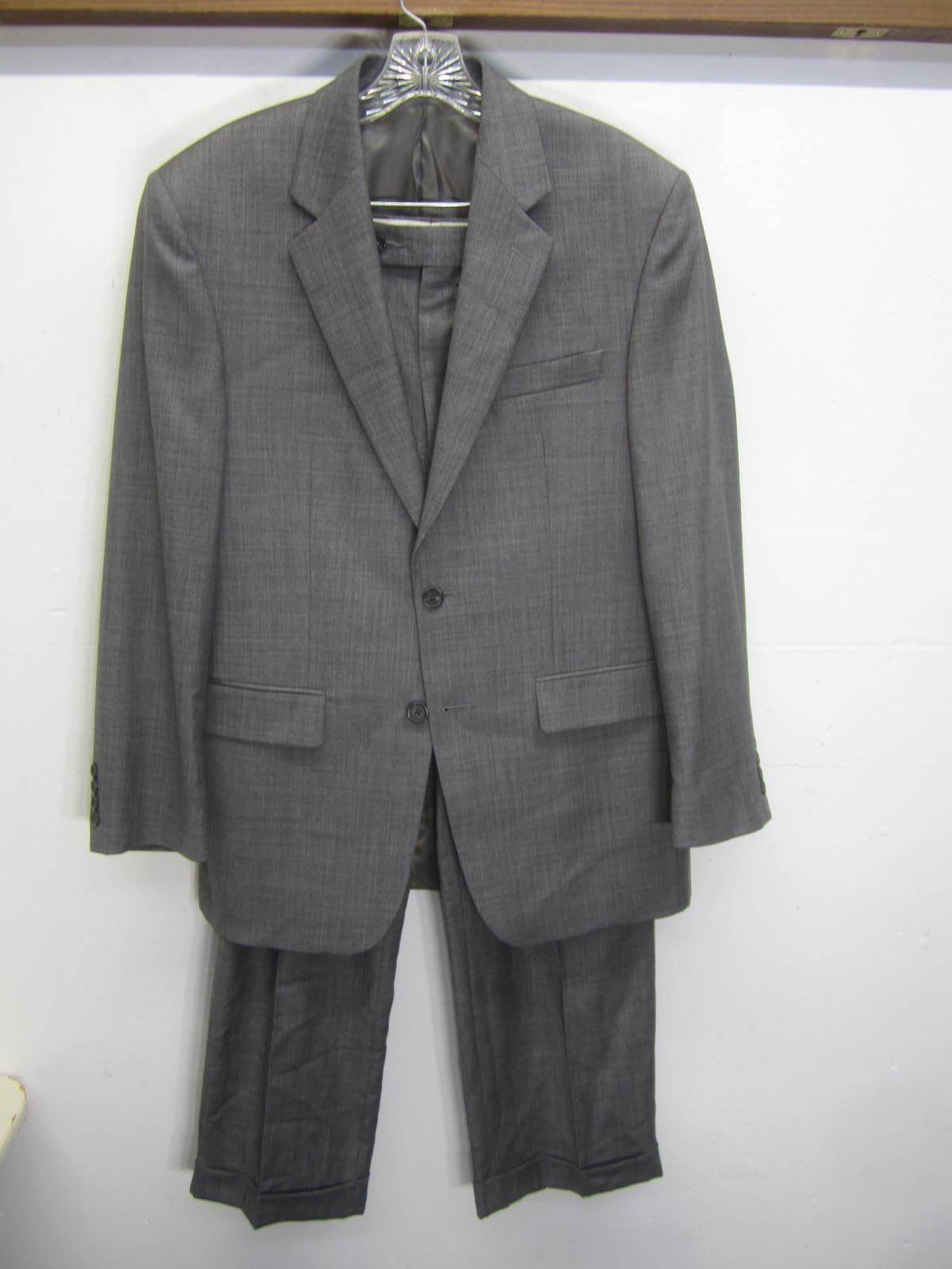 New Chaps Suit Blazer & Pants pleated grau wool NWOT two button sz 38R 32x30