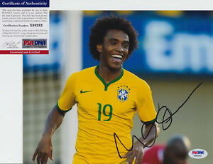 WILLIAN-BRAZIL-BRASIL-CHELSEA-SIGNED-AUTOGRAPH-8X10-PHOTO-PSA-DNA-COA-X68282