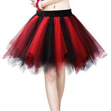 Womens Adult Mini Ballet Multi-layer Dress Petticoat Bubble Tutu Costume Skirt