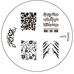 Original Konad Stamping Schablone zur Auswahl M59 - M107 für Nailart