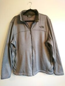 on sale 627ec 41325 Details about Men's The North Face Silver Grey Fleece Lined Jacket Size XL  Shiny Teddy Jumper