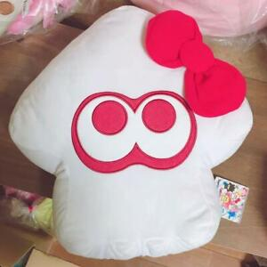 Sega-splatoon-2-Personajes-Sanrio-Big-Ika-calamar-Cojin-Hello-Kitty-Peluche-stuffe