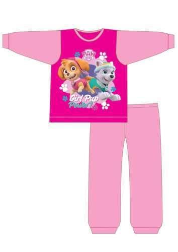 bnwt girls pink paw patrol long pyjamas 12,18,24 months