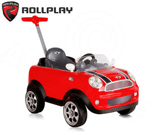 Image Is Loading Red Mini Cooper S Push Car Ride On