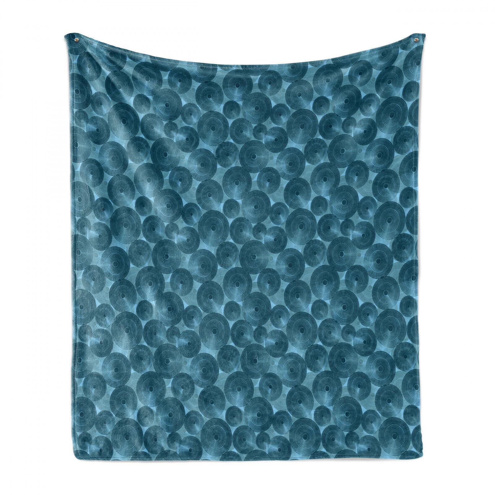 Modern Soft Flannel Fleece Blanket Circle Dots Rounded Tile