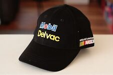 Rare VTG Mobil Delvac Nascar Adjustable Strapback Hat Cap Oil Cars Racing