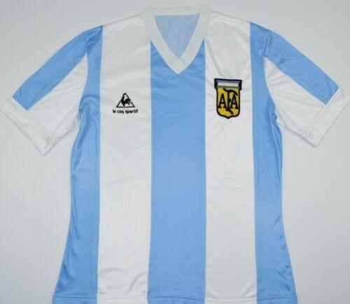 Argentina 1986 Coq Camiseta De Fútbol Sportif M Le talla 1984 Hogar O6wCqxxP