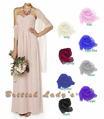 Central Chic Lila Seidig Schal Braut Brautjungfer Hochzeit Ball Stola UK