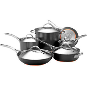 Anolon-Nouvelle-Copper-Hard-Anodized-Nonstick-11-Piece-Cookware-Set-in-Dark-Gray