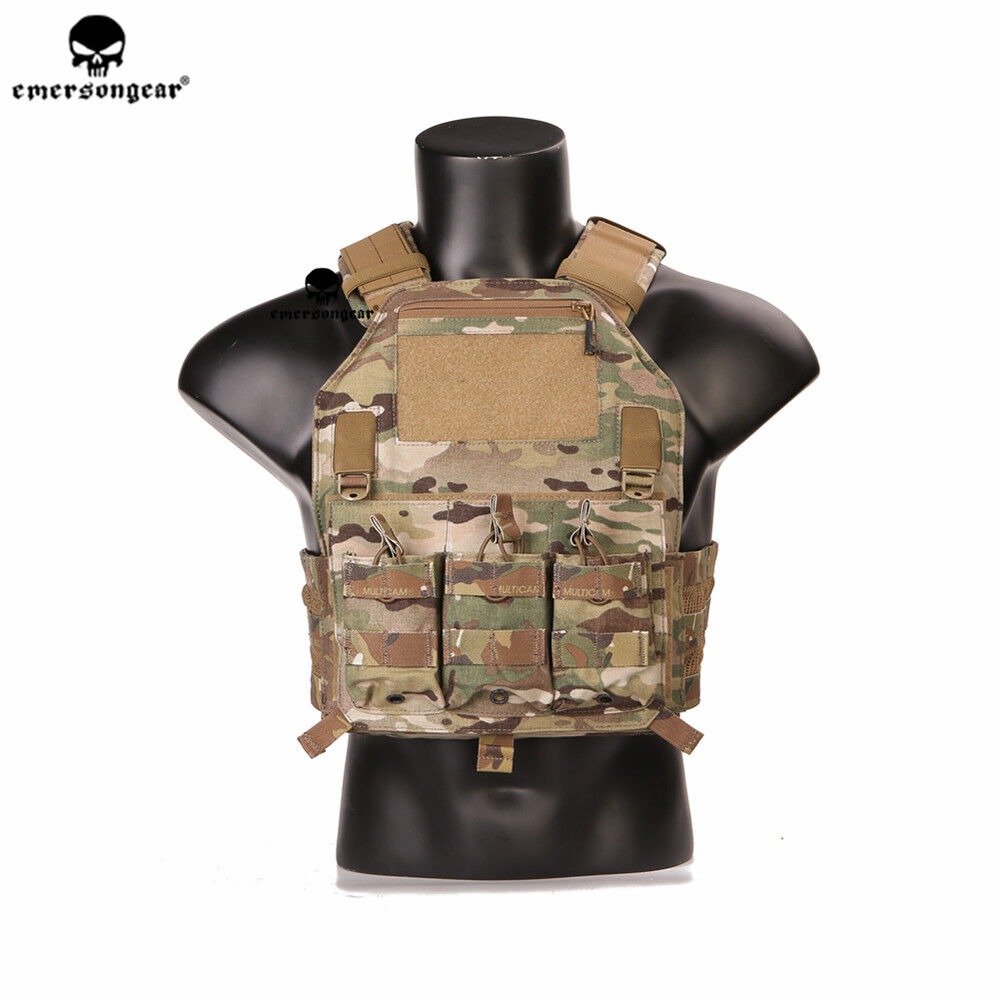 Emerson Tactical Vest 420 Plate Carrier Molle  Airsoft Army Vest Body Armor  team promotions