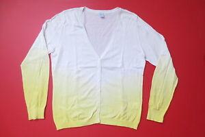 Cardigan, 100% Baumwolle, Größe L, weiß-gelb, M+S, Sommer-Cardigan, wie neu - Deutschland - Cardigan, 100% Baumwolle, Größe L, weiß-gelb, M+S, Sommer-Cardigan, wie neu - Deutschland